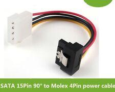 Molex 4 Pin To SATA 15 Pin Power Right Angle 90 Degree Hard Drive Cable Lead ATA