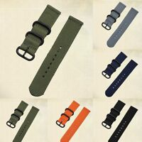 New Solid color 20 22mm Woven Stainless Steel Buckle Watch Strap Band Watchband