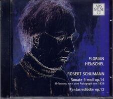 Florian Henschel-schumann sonate CIT 14, fantaisie morceaux CIT 12 (article neuf)