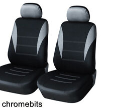 Vorderseite grau schwarz Stoff Sitzbezüge RENAULT MEGANE MPV LAGUNA SCENIC NEU