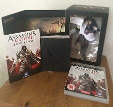 ASSASSINS CREED II BLACK EDITION PS3 INCLUDING FIGURE GAME,BOOK,SOUNDTRACK ETC