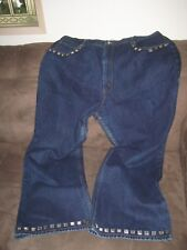 Women's LA Blues Jeans Studded Pockets and Hem  Sz 24W