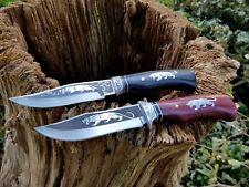 2x Jagdmesser Messer Knife Bowie Buschmesser Coltello Cuchillo Couteau Hunting