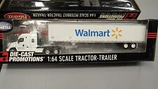DCP #31585 WALMART TRUCKING FREIGHTLINER SEMI CAB TRUCK REEFER VAN TRAILER 1:64/
