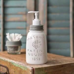 MASON JAR new white Soap dispenser -midget size