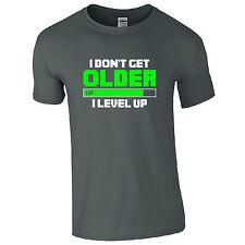 I Don't Get Older I Level Up T-Shirt - Funny Gamers Inspired Kids Men Gift Top