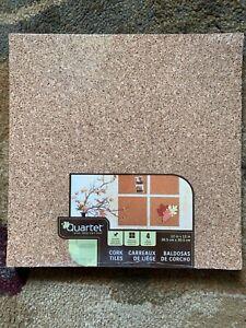 "New Quartet Cork Tile 6 Packages Of 4packs Model #102 12"" x 12"""