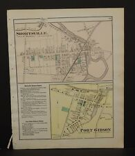 New York Ontario County Map Shortsville Port Gibson 1874 W15#21