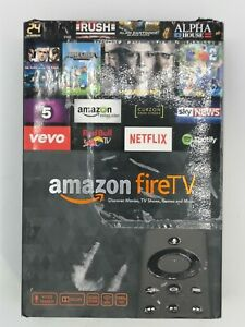 B160 AMAZON FIRE TV BOX HD 2ND GENERATION Boxed with Alexa Voice Remote & Power