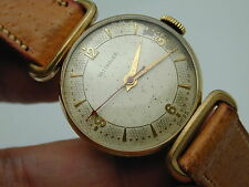 RED ARROW SECOND HAND VINTAGE 1950S WITTNAUER GF FANCY CASE WRIST WATCH RUNNING