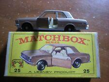 Vintage LNIB Matchbox No. 25D Ford Cortina Car w/ Original Box