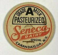 Seneca Dairy Canandaigua NY New York Vintage Milk Bottle Cap Special Grade A