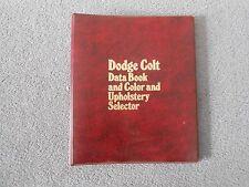 1975 Dodge Colt Dealer Showroom Data Book Color & Upholstery Selector Catalog