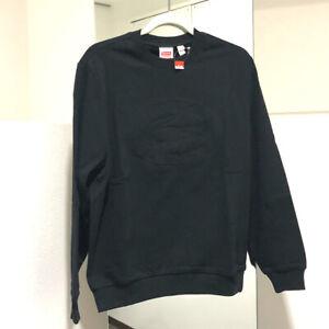 UNUSED SUPREME x LACOSTE 17SS Pique Crewneck Sweater Black