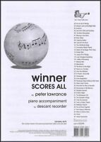 Winner Scores All Lawrance Tpt & Tbn Piano Accomps Sheet Music & Song Books