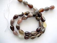 Botswana agate pear beads 8x12mm. Teardrop beads. DIY loose beads