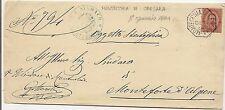 P6847   Verona, Montecchia di Crosara, annullo ottagonale 1884