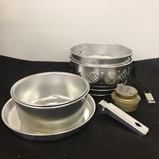 Camping Cook Set Steamer Bowls Pans Portable Lightweight Stove Top Outdoor