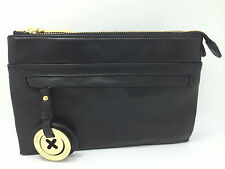 BNWT MIMCO DUO HIP BAG Black Leather GOLD Plating Free postage
