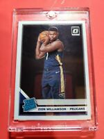 2019-20 Prizm Optic Zion Williamson Base RC New Orleans Pelicans #1 Rookie 🔥