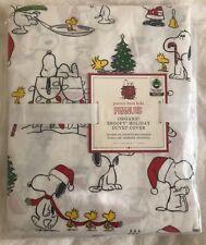 Pottery Barn Kids Peanuts Organic Holiday Cotton Twin Duvet Snoopy Christmas NWT