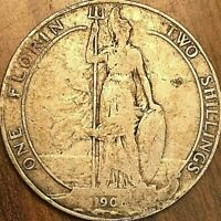 1906? GREAT BRITAIN EDWARD VII SILVER FLORIN COIN KM# 801