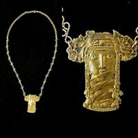 Vintage Early1920s French made Egyptian Mystic Goddess Necklace Egyptian Revival