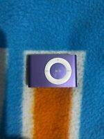 Apple iPod Shuffle 2nd Generation Purple (1GB) - Good Condition! Battery Issue!
