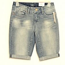 Time and Tru Denim Bermuda Shorts  Size 4 Blue