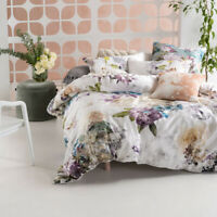 Brand New Linen House Lena Violet Queen Cotton Quilt Cover Set