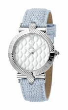 Just Cavalli Women's Carattere Watch JC1L047L0015 White Dial Silver Leather