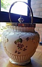 Carlton Ware Biscuit Barrel Early Floral Swallow Backstamp Great Gift Idea