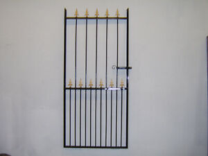 6 ft tall wrought iron  garden / side gate very strong hangs on the left