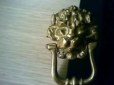 Vintage Brass Lions Head Door Knocker Italian Made Very Unique