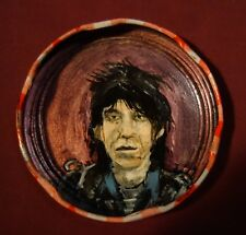 KEITH RICHARDS Rolling Stones, Jam Jar Lid Portrait, Outsider Folk Art PETER ORR