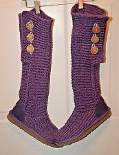 Ugg Austrailia Classic Blue Knit Boots  Sz 8M