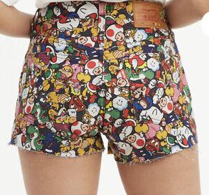 Levi's x Super Mario Mushroom Kingdom  501 Original Jean shorts Size 29