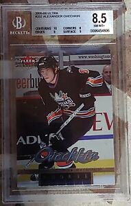 2005-06 ALEX OVECHKIN ULTRA #252  ROOKIE BECKETT GRADED 8.5 NEAR MINT