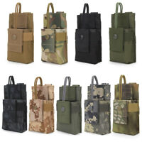 Tactical Molle Walkie Talkie Bag Radio Pouch Holder 1000D Outdoor Military