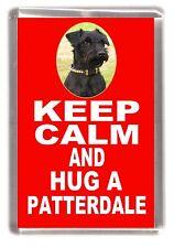 "Patterdale Terrier Fridge Magnet ""KEEP CALM AND HUG A PATTERDALE"" by Starprint"