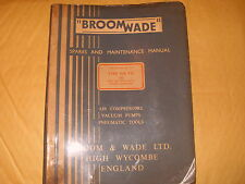 Broomwade Spares And Maintenance Manual Pub. No. 101 Type WR120 Jan 1957