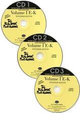 Real Book Playalong 6th Edition Vol 1 E-K Play Alto Sax Piano Guitar Music CDs