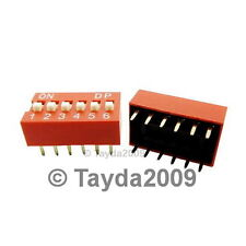 2 x Dip Switch 6 Positions Silver Plated Contacts