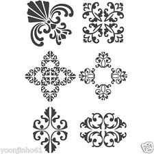 """STENCIL WALL STENCILS NEW 16.53""""x11.69"""" Airbrush PVC TEMPLATE LARGE antique2"""