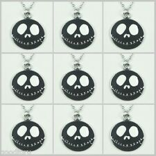9pcs Black Jack Skellington Nightmare before Christmas Charm Necklaces Halloween