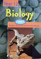 BIOLOGY YEAR 12 - 2007 - STUDENT RESOURCE & ACTIVITY MANUAL