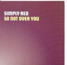 SIMPLY RED So Not Over You 2 TRACK PROMO CD w rare mix