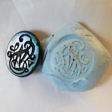 Small bloodstone intaglio with Initials Antique