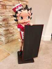 """Betty Boop  Diner with Blackboard Menu Life Size  Statue 29"""" High new in box."""