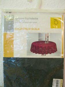 Spitzen-Tischdecke  Vinyl - Tischdecke, RUND ca.160 cm.  in OVP !